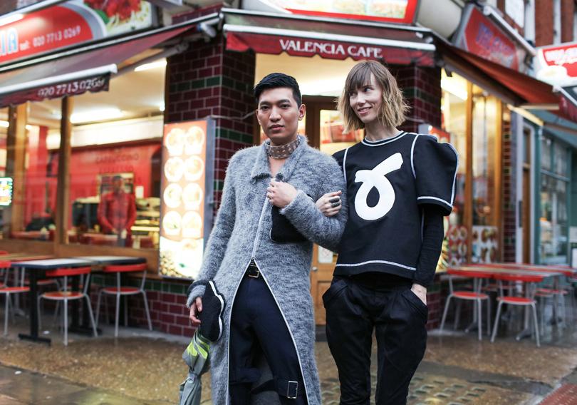 Модный блогер Брайан Бой и Анна Зюрова