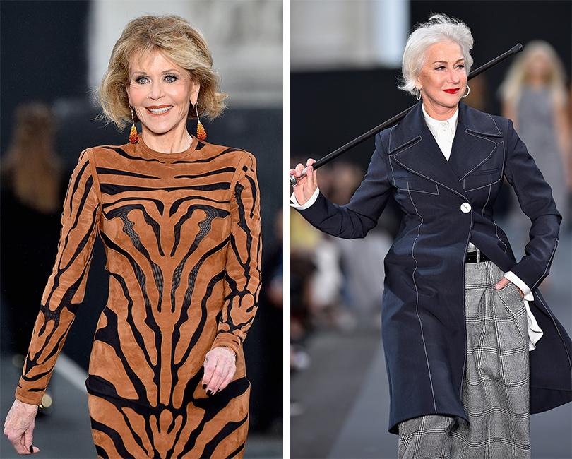 Напоказе L'Oréal Paris: Джейн Фонда. Хелен Миррен