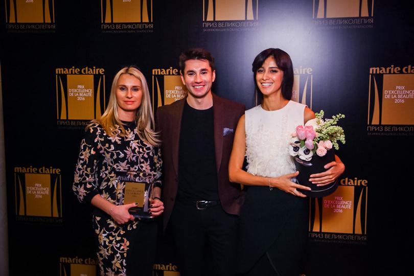 Ксения Калиновская (Chanel), Эрнест Мунтаниоль (ведущий визажист Chanel в России) и Равшана Куркова