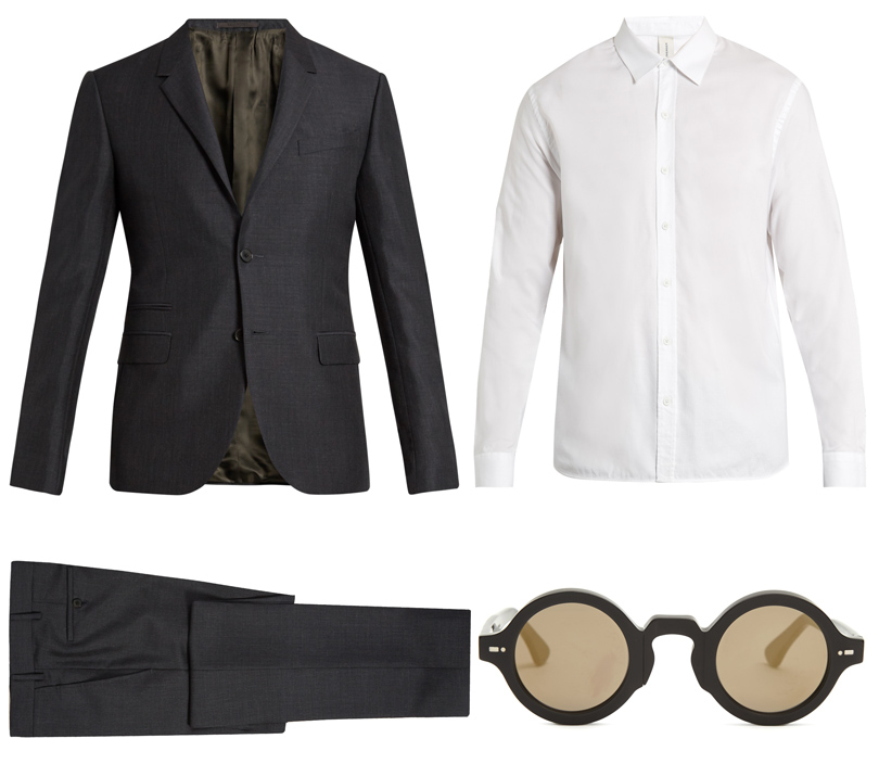 Костюм, Valentino; рубашка, Sørensen; солнцезащитные очки, Movitra
