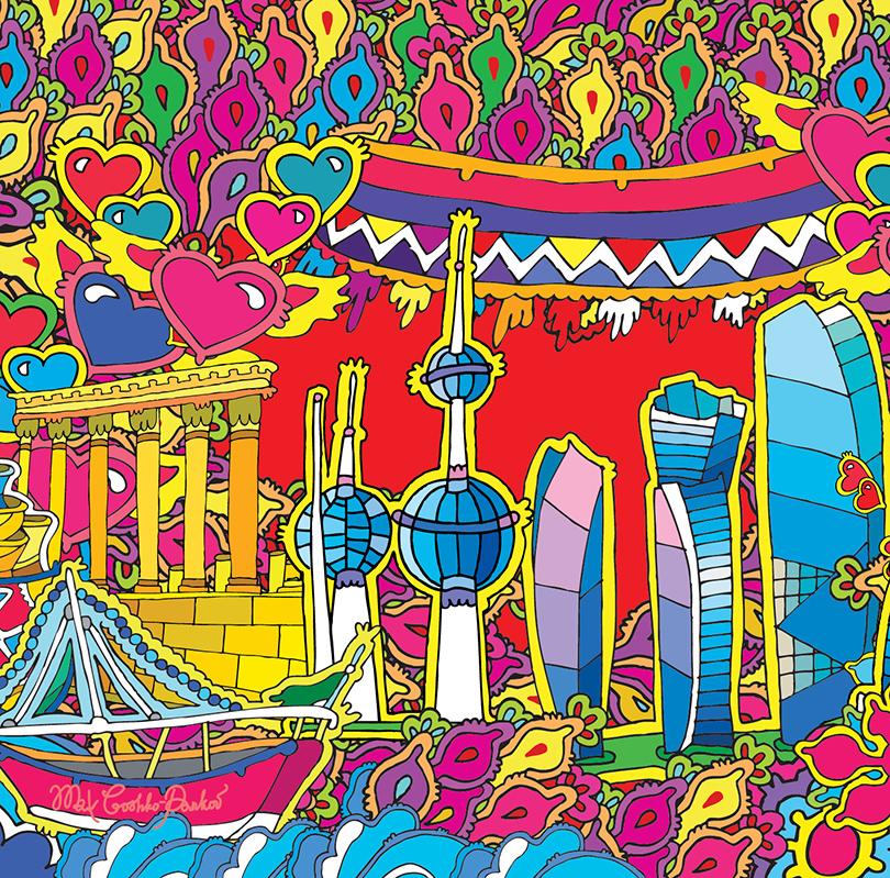 Art & More: Максим Гошко-Даньков x MINI Middle East ко Дню всех влюбленных
