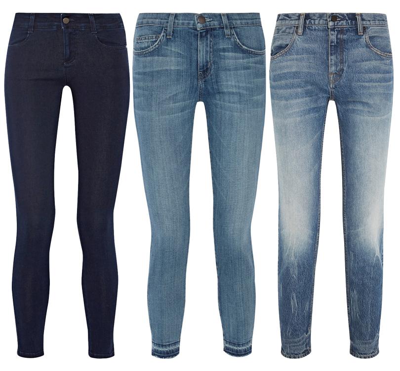 Trend Alert: модный минимализм. Новый подход к созданию базового гардероба. Темно-синие джинсы-скинни Stella McCartney, прямые джинсы Current/ Elliott, прямые джинсы Alexander Wang