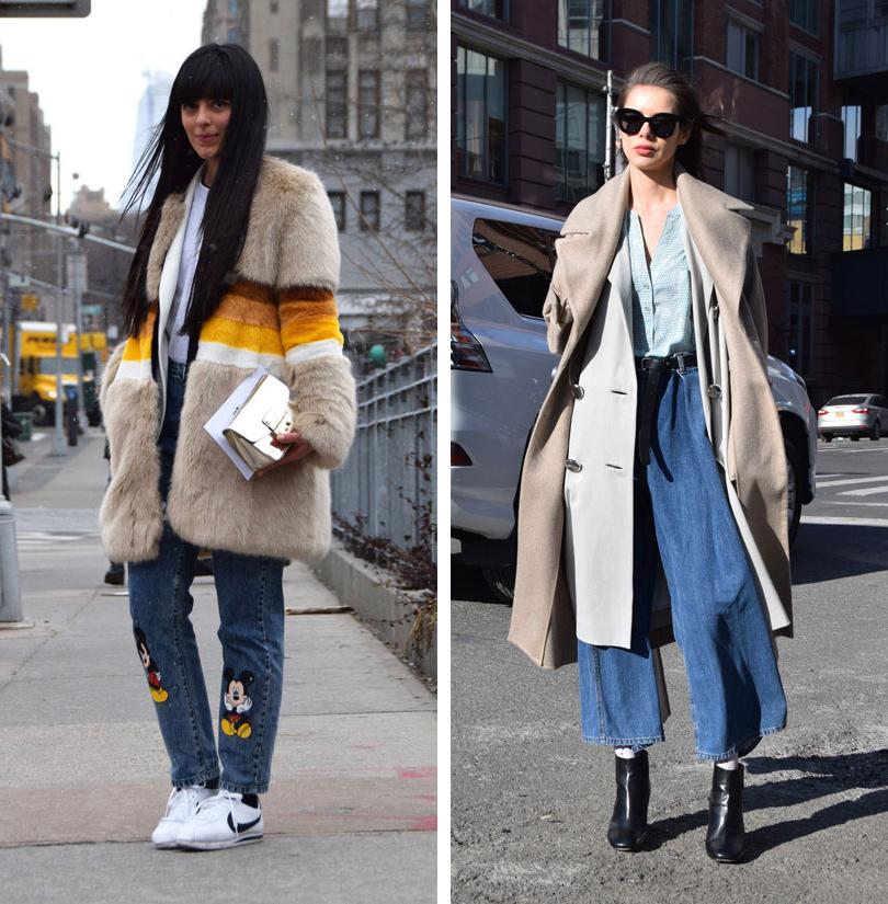 Лучшие образы на Неделе моды в Нью-Йорке: модный блогер Лора Комолли, модель Марина Ингварссон