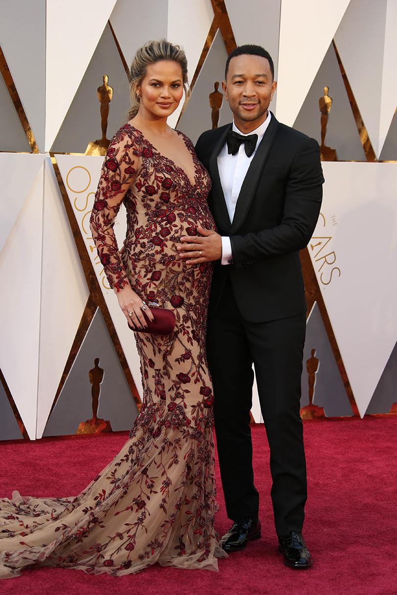 Звездные пары на церемонии вручения кинонаград «Оскар-2016»: Крисси Тейген и Джон Ледженд