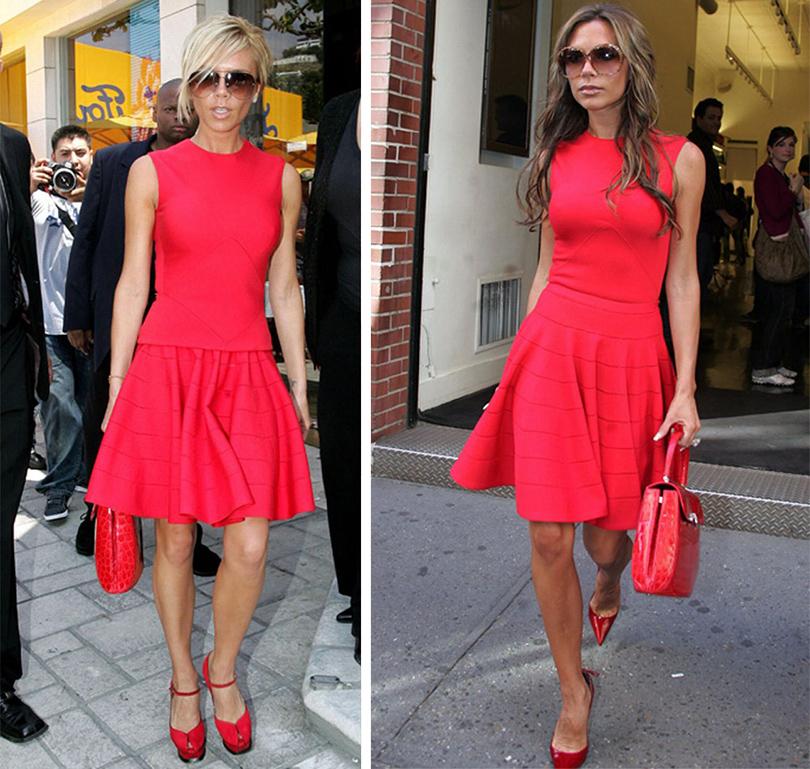 Тренд на outfit recycling: носить платья по два раза считают уместным Виктория Бекхэм в Louis Vuitton