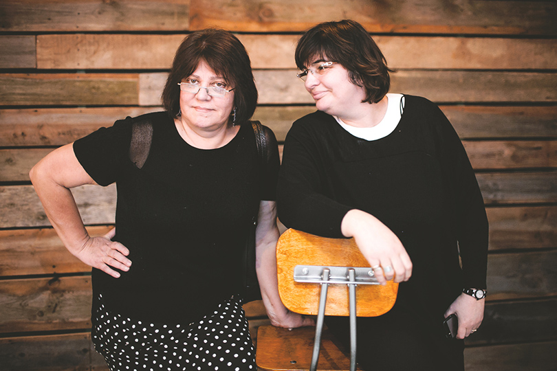 Писатели Татьяна Толстая и Мария Голованивская