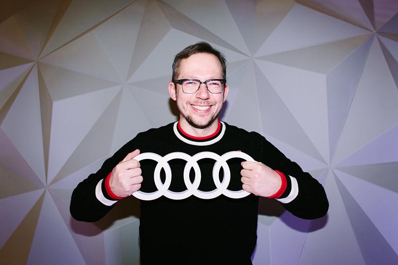 Тест-драйв в космосе с Audi в универмаге «Цветной»: Антон Белов