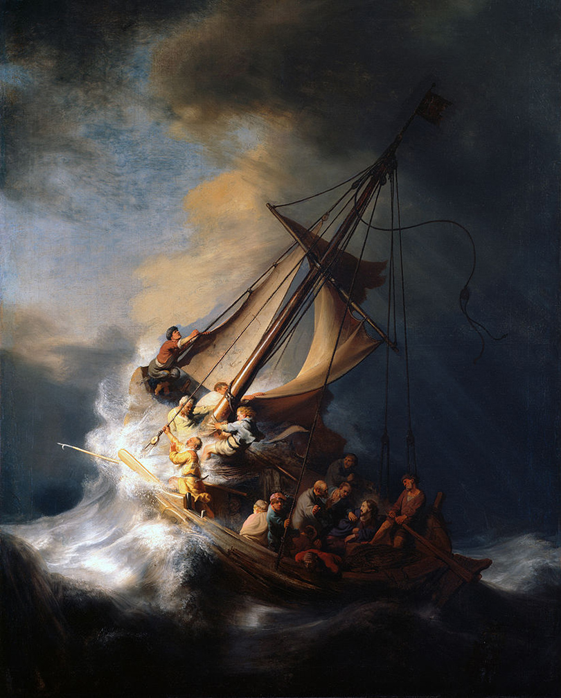 «Христос во время шторма на море Галилейском» Рембранта