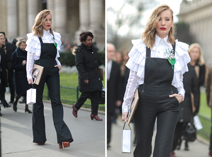 Street Style: уличная мода на Неделе Haute Couture в Париже. Наталья Давыдова