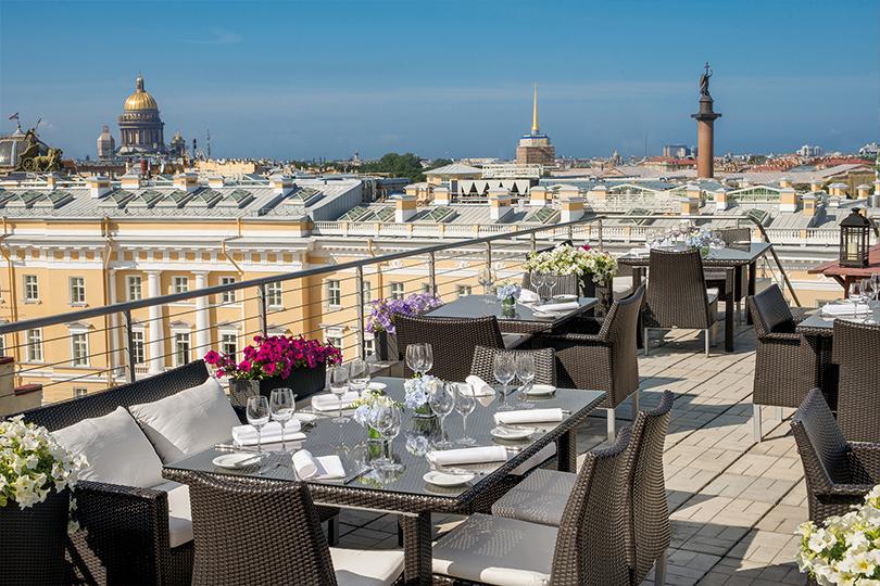 Cемь панорамных террас Санкт-Петербурга. Bellevue Brasserie