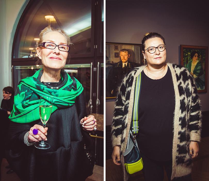 Открытие выставки Зинаиды Серебряковой вТретьяковской галерее. Ольга Свиблова и Мария Фёдорова