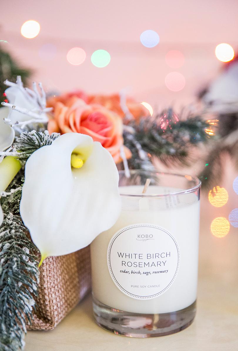 Декоративные свечи — мечта об уюте: Kobo White Birch Rosemary