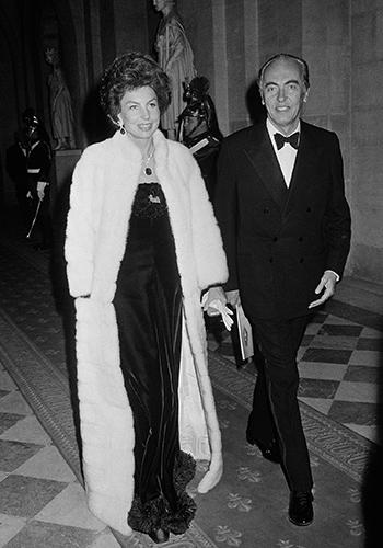 С мужем Андре Баттанкуром, 1973 г.
