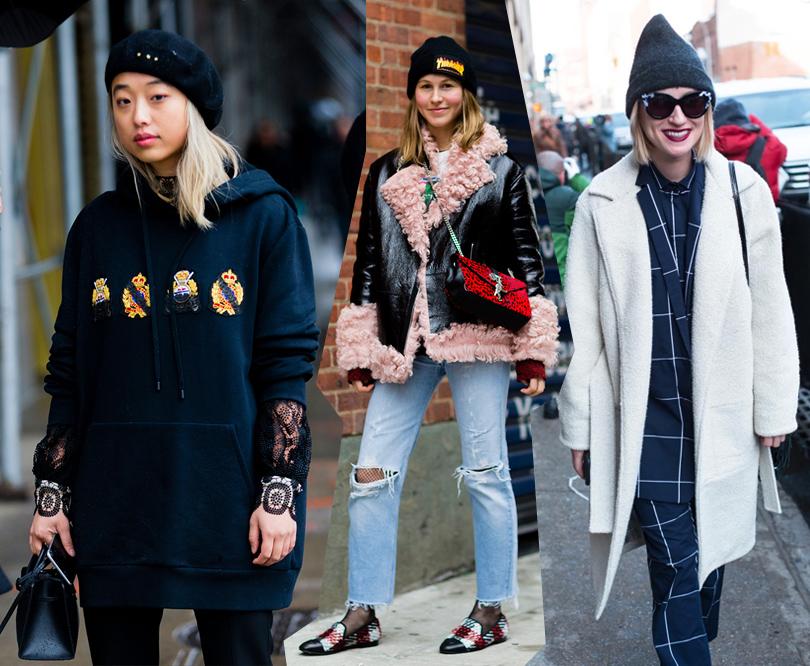 Street Style: уличный стиль наНеделе моды вНью-Йорке. Маргарет Жанг, Джессика Минкофф, Габриэль Корн