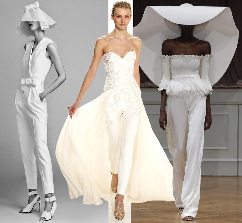 Wedding & More: 6 актуальных трендов с Недели свадебной моды в Нью-Йорке. Брючные комплекты Viktor & Rolf, Mark Zunino, Alon Livne White