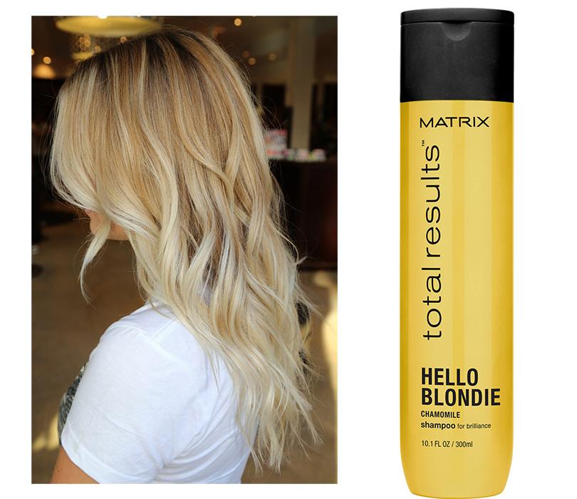Идеальная косметичка: 7 средств для волос на все случаи жизни. Наслучай, если увас светлые волосы: Matrix Hello Blonde Shampoo