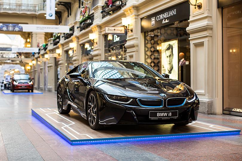 Юбилейная экспозиция BMW в ГУМе: BMW i8