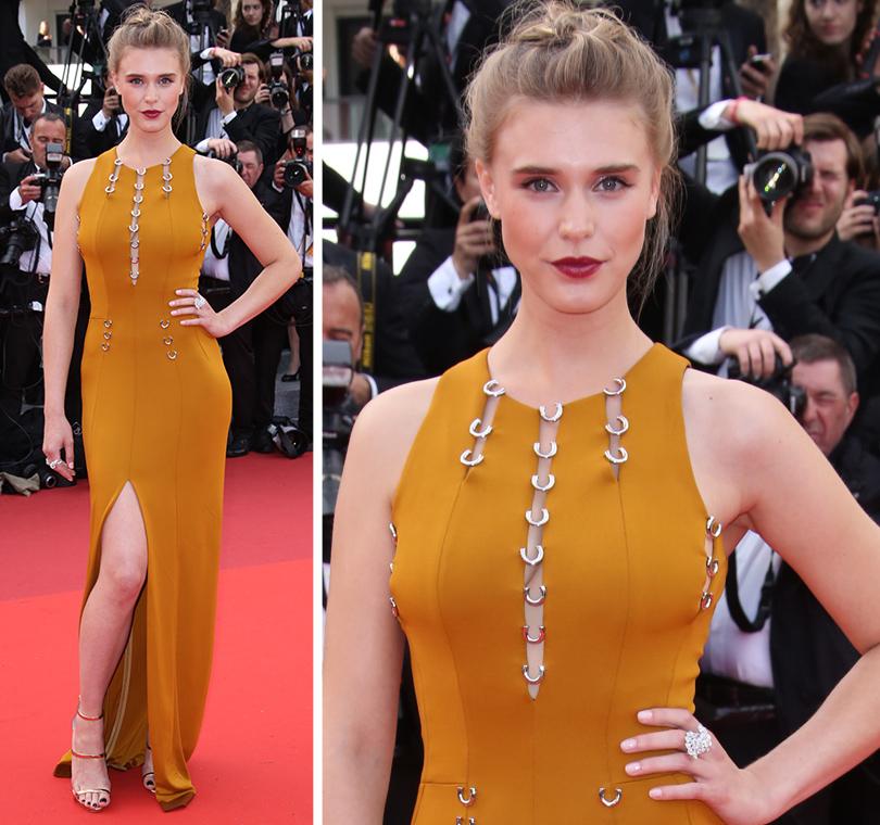 Cannes 2016: самые яркие звездные образы на церемонии открытия кинофестиваля. Гайя Уайсс вMugler