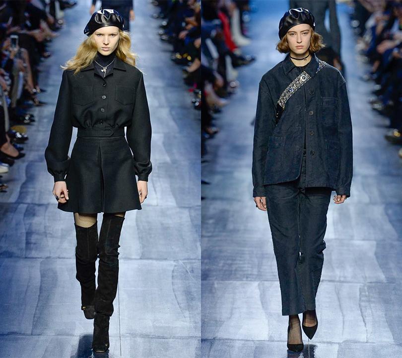 Темные воды: все оттенки синего на показе Dior