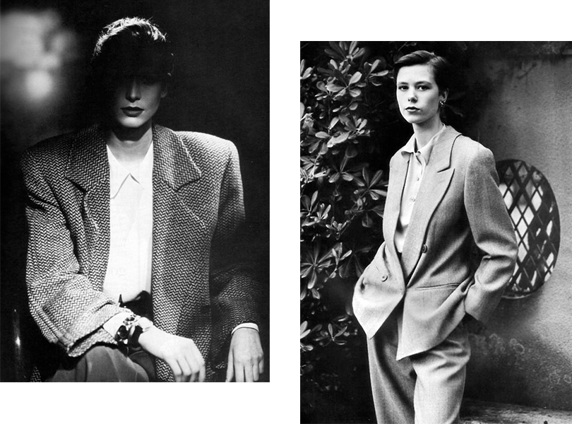 Vogue, 1987. Фотограф Aldo Fallai; Vogue, 1989. Фотограф Aldo Fallai