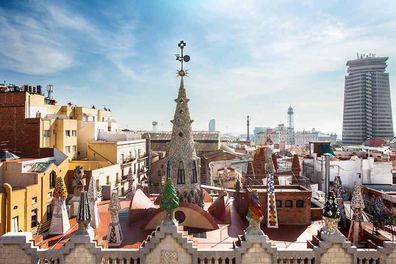 Дворец Гуэля, терраса на крыше