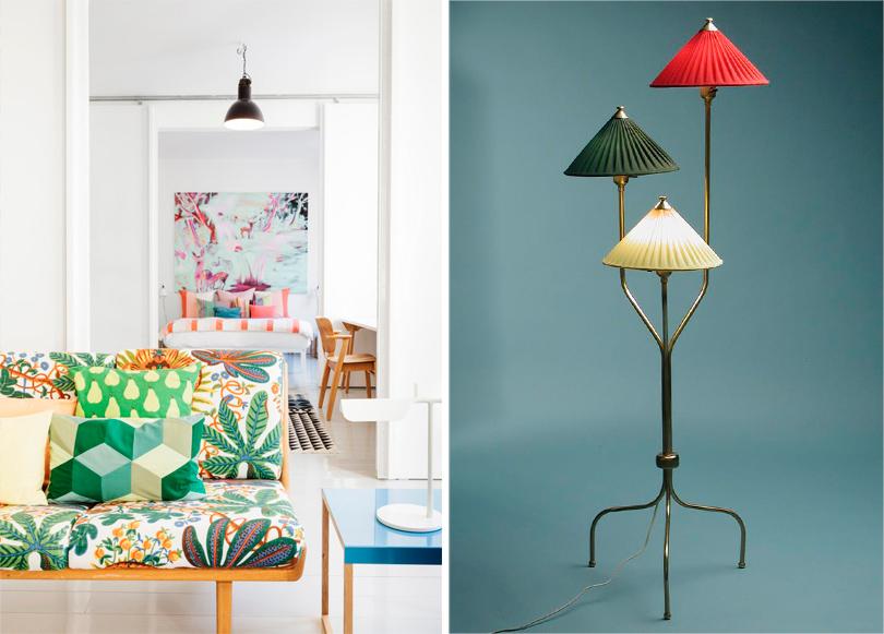 Шведский модернизм Йозефа Франка. Мобильная мебель, переносные торшеры на тонких ножках