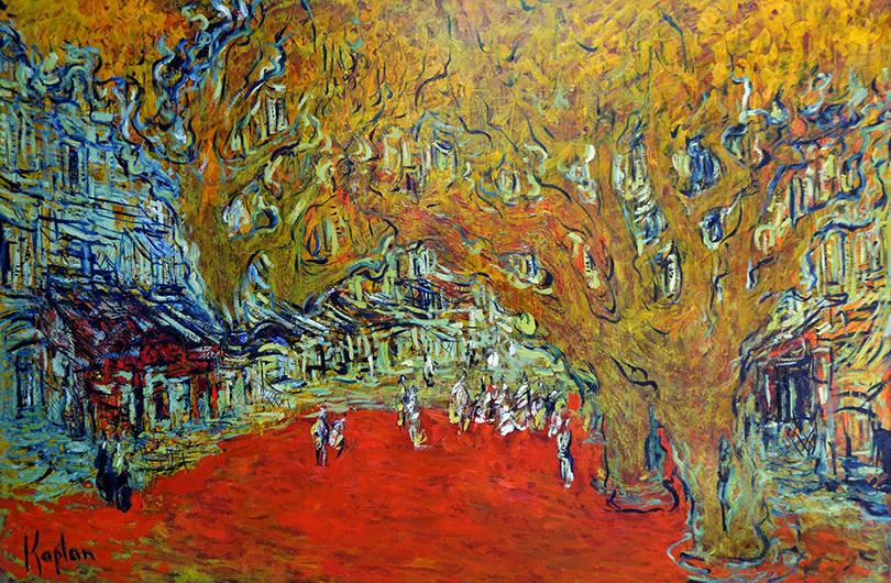 Выставка главного декоратора «Ленфильма» Марка Каплана: «Три дня вБорме»