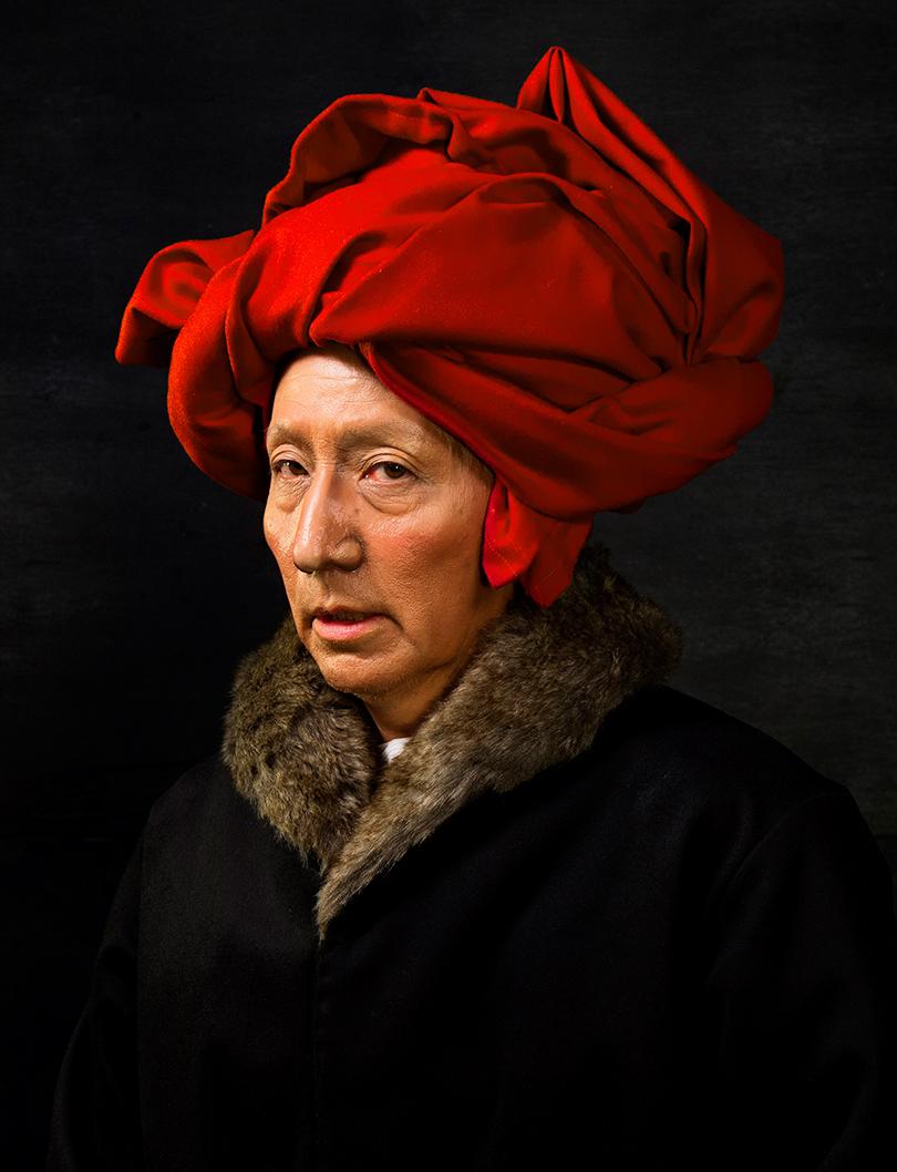 Ясумаса Моримура. «История искусства вавтопортретах. Ван Эйк вкрасном тюрбане», 2016г.