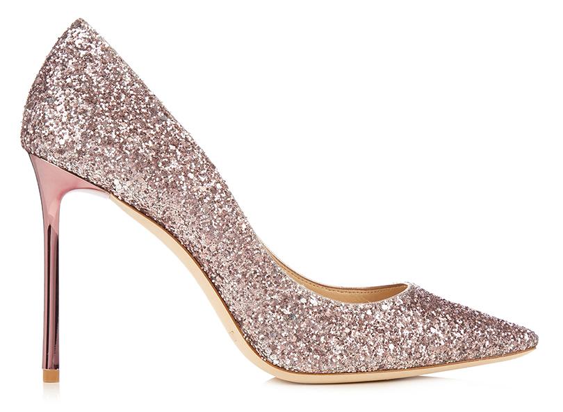 Новый год. Дресс-код: 28лучших пар обуви для новогодней вечеринки. Лодочки Jimmy Choo сшиммерным напылением