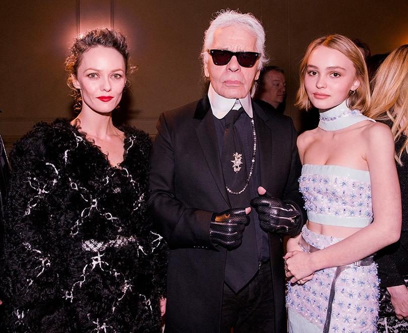 Мода и бизнес: новое поколение супермоделей. Ванесса Паради, Карл Лагерфельд и Лили Роуз-Депп