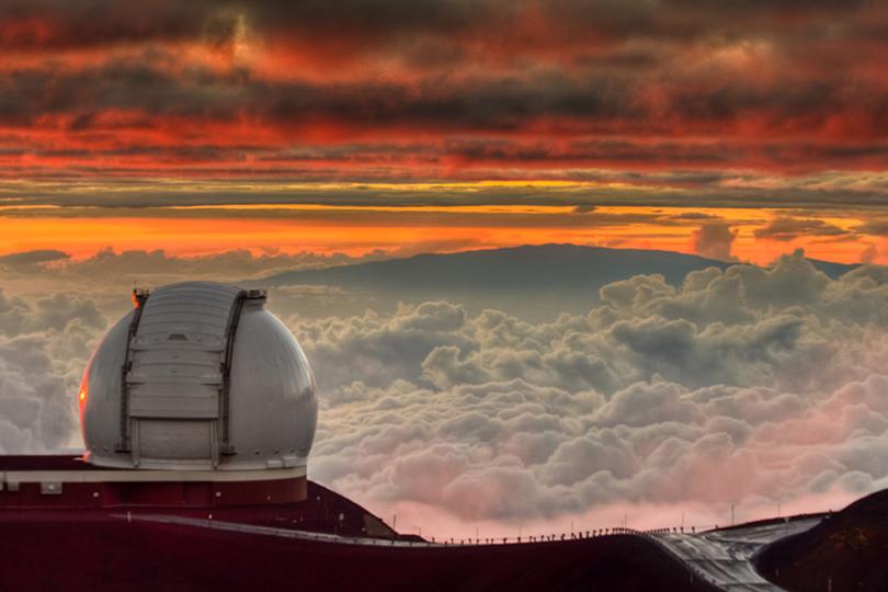 Идея для путешествия: астрономические обсерватории, вкоторые открыт доступ туристам. Обсерватория Кека, США, остров Гавайи, высота 4190 метров