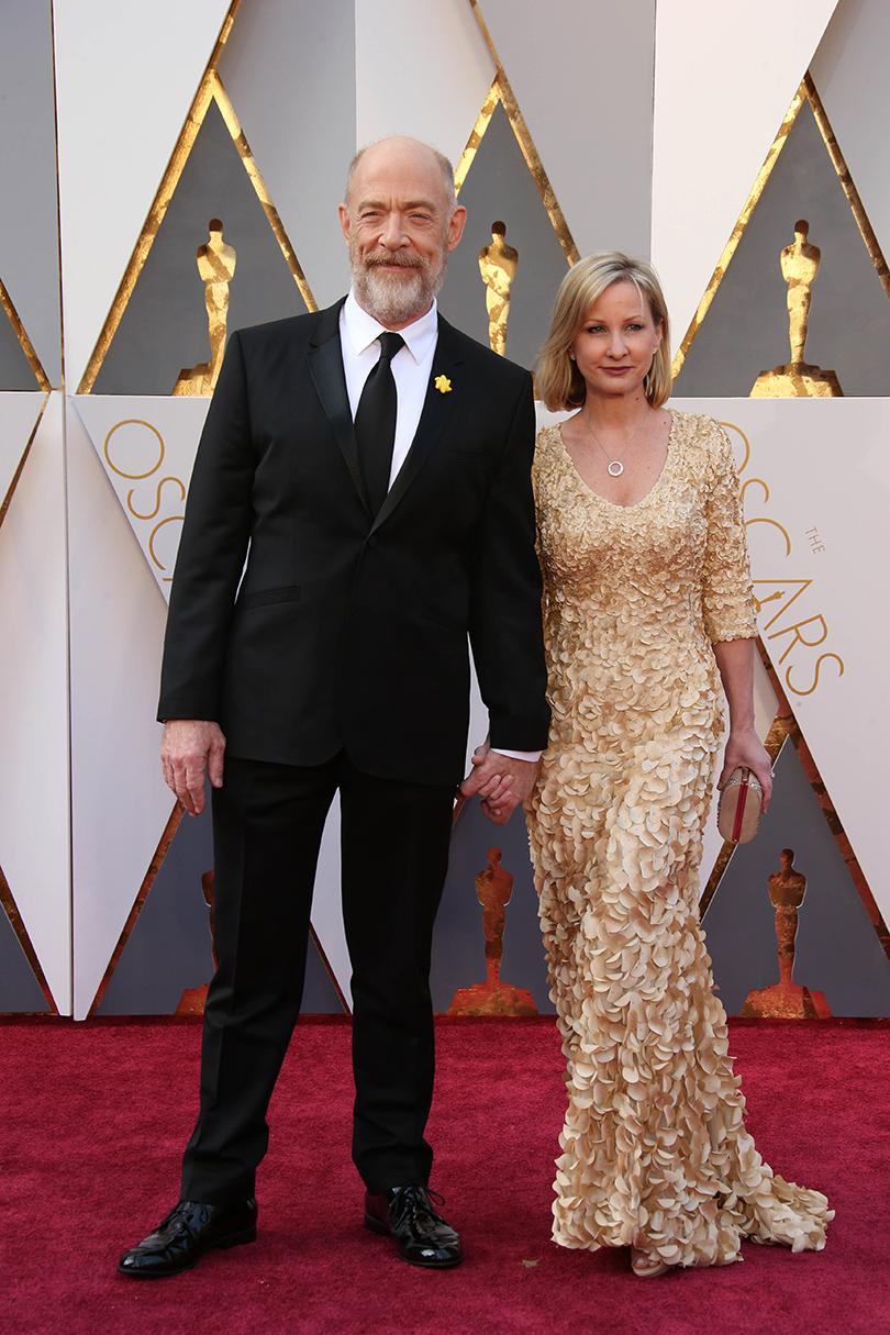 Звездные пары на церемонии вручения кинонаград «Оскар-2016»: Дж. К. Симмонс и Мишель Шумахер