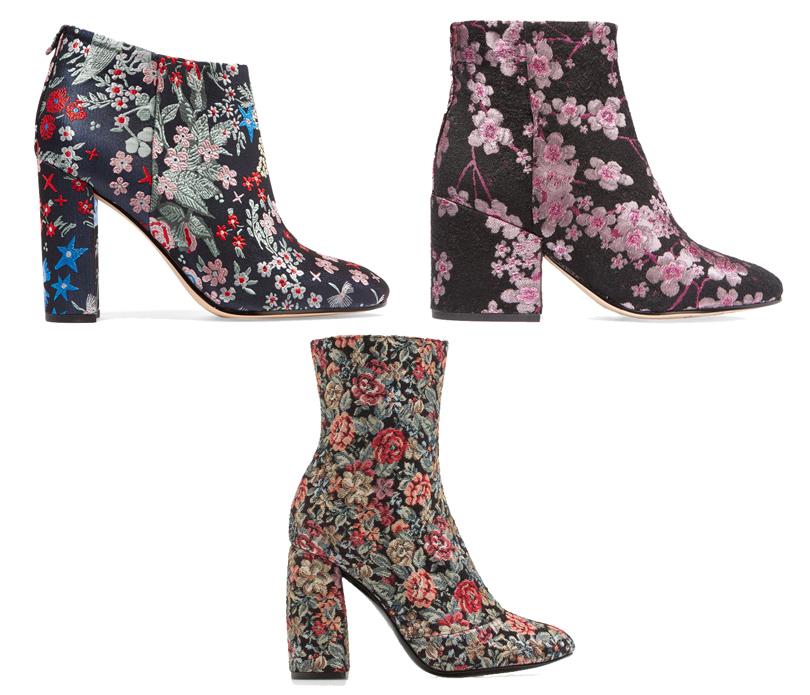 Shoes & Bags Blog: ботильоны из набивного бархата и принтованного жаккарда. Ботильоны Sam Edelman, Uterque