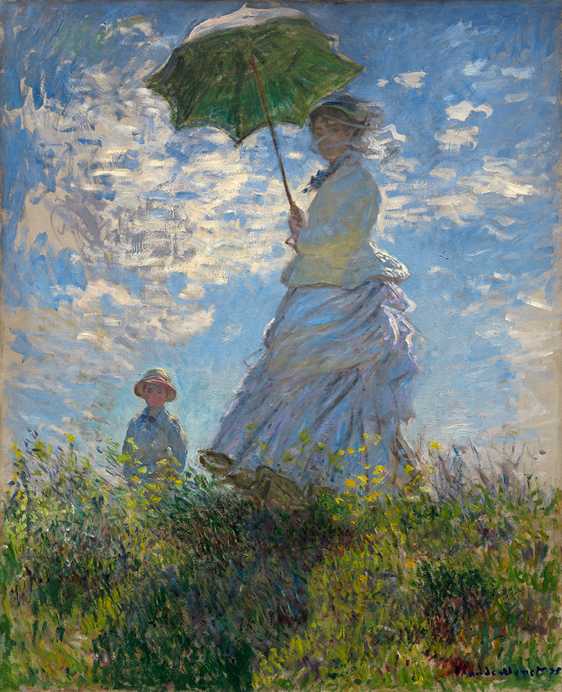 Выставка работ из собрания C.И. Щукина в Фонде Louis Vuitton в Париже: Клод Моне.«Прогулка. Дама сзонтиком», 1875