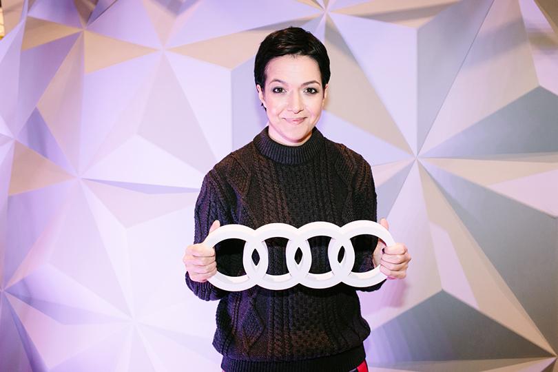 Тест-драйв в космосе с Audi в универмаге «Цветной»: Ксения Чилингарова