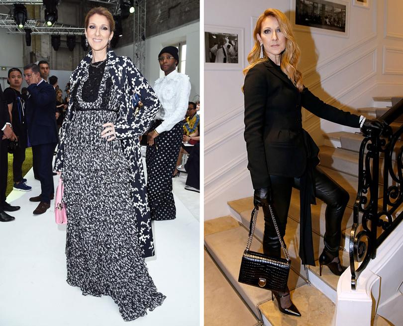 Селин Дион в GiambattistaValli (на показе дома), в Dior (на показе дома)