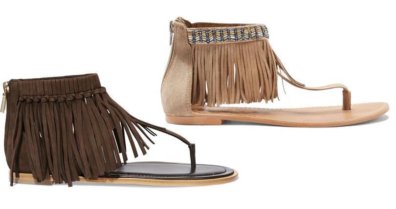 Мода и бизнес: найти десять отличий. Как масс-маркет «вдохновляется» люксовым сегментом. Замшевые сандалии сбахромой Tod's VSсандалии изискусственной замши сбахромой Next