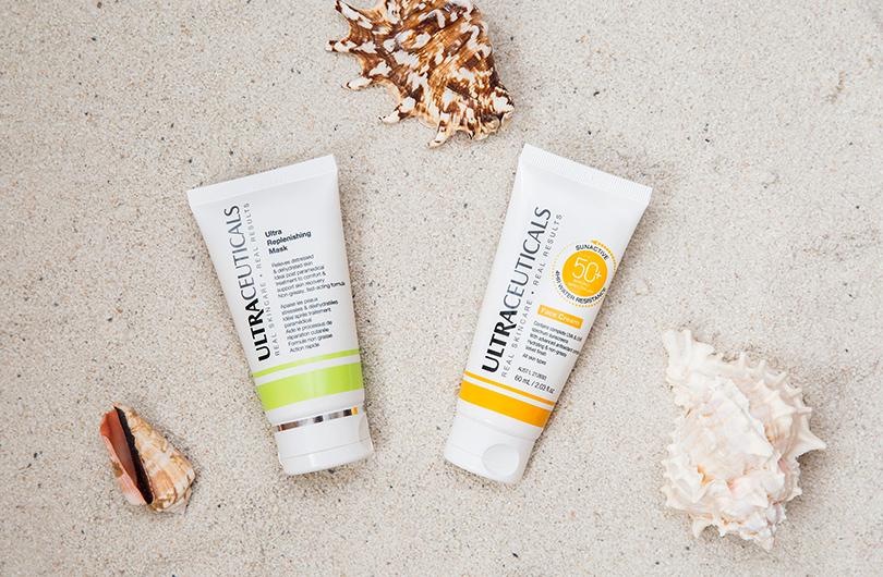 Крем Ultraceuticals Sun Active Face Cream (SPF50) + маска Ultra Replenishing Mask
