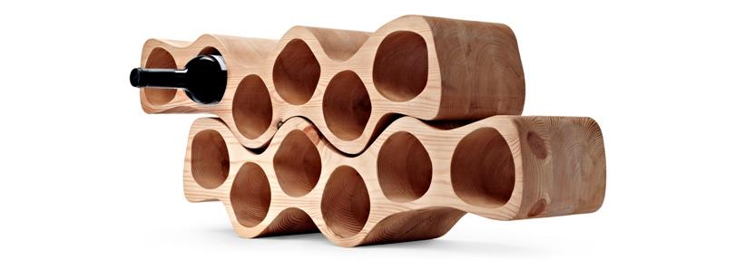 Дизайн & Декор: винные стеллажи и полки-конструкторы — для стильных интерьеров и модных вечеринок. Otto wine rack от Delica