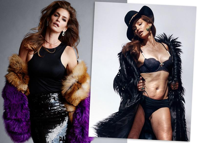 48-летняя Синди без фотошопа для журнала Marie Claire
