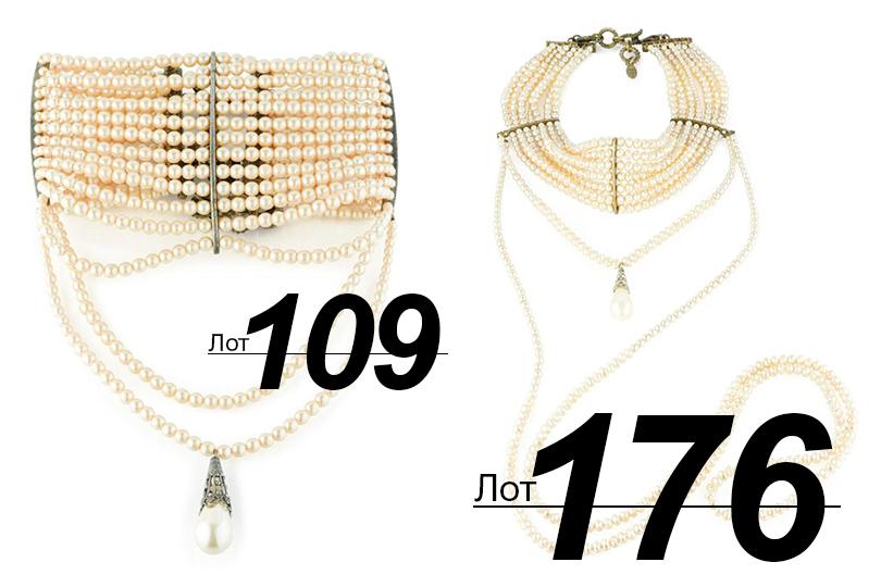 Сподиума— нааукцион: Sotheby's выставил наторги прототипы украшений споказов Dior. «Ожерелья как уДжозефины Бейкер» (лоты 109 и176)