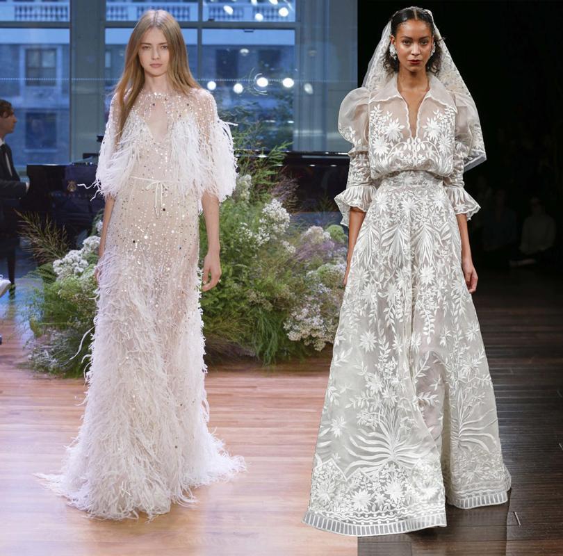 Wedding & More: 6 актуальных трендов с Недели свадебной моды в Нью-Йорке. Платья Marchesa, Naeem Khan