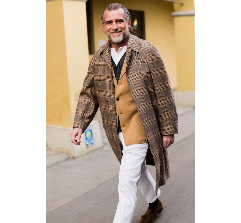 Men in Style: уличная мода на выставке Pitti Uomo. Дизайнер Алессандро Скуарци