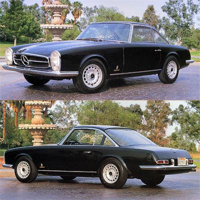 Семь главных машин легендарного автомобильного дизайнера Тома Тьярда. 1964— Mercedes-Benz 230SL Pininfarina Coupé