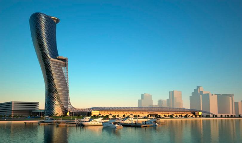 Идея на каникулы: 10 причин поехать в Абу-Даби весной.  Небоскреб Capital Gate