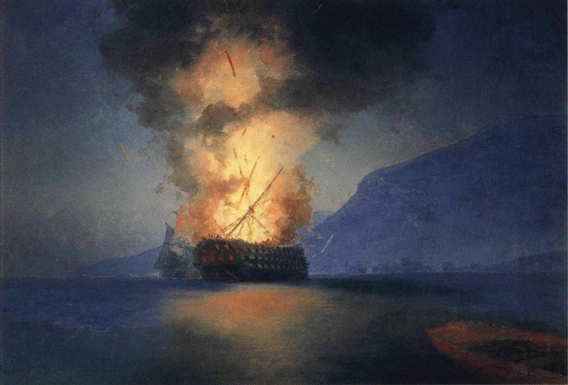 Art & More: все, что вы хотели знать об Айвазовском, но боялись спросить. «Взрыв корабля»