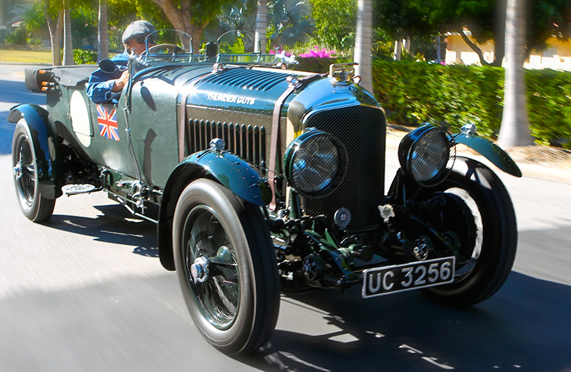 Brian Johnson of AC/DC with Thunder Guts, his 1928 Bentley 4½ litre