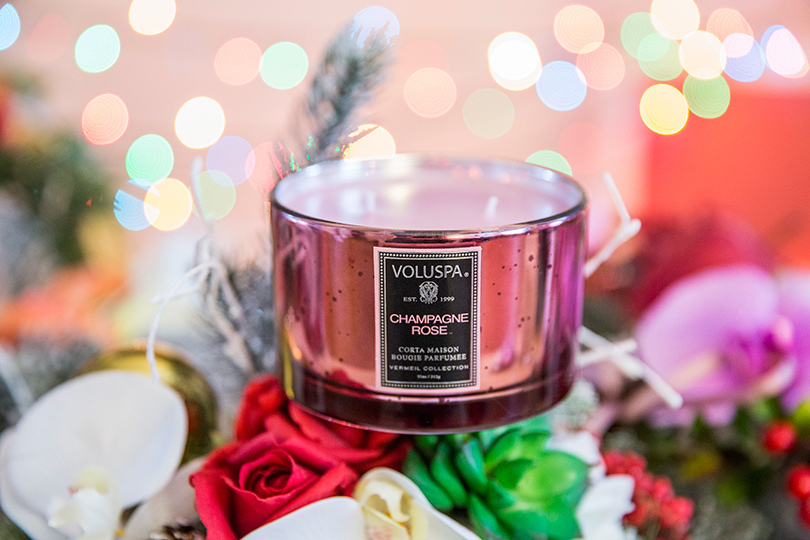 Декоративные свечи — мечта об уюте: Voluspa Champagne Rose