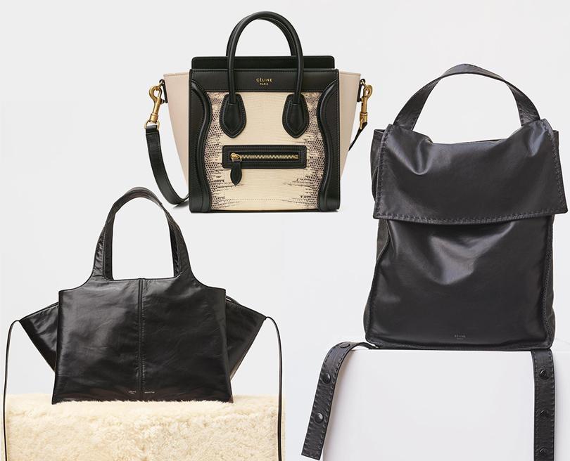 Style Notes: 5причин обратить внимание нааксессуары Céline. Сумка Céline Trifold, сумка Céline Luggage Nano, рюкзак измягкой кожи Céline Croissant