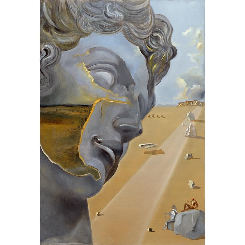 Сальвадор Дали. Без названия. Помотивам скульптуры «Джулиано Медичи» снадгробия Джулиано Медичи работы Микеланджело.1982